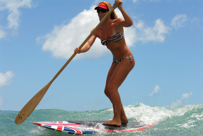Stand Up Surf Paddle in action
