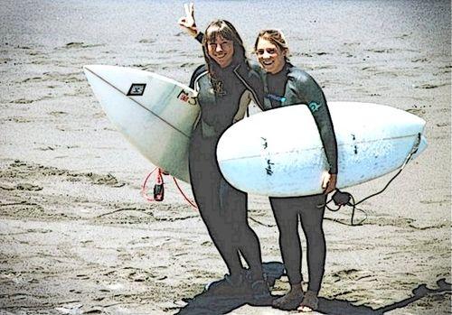 Surfer babes