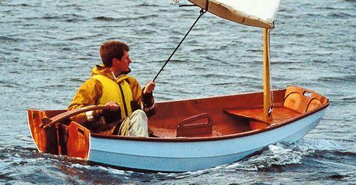 Sailing an east port pram