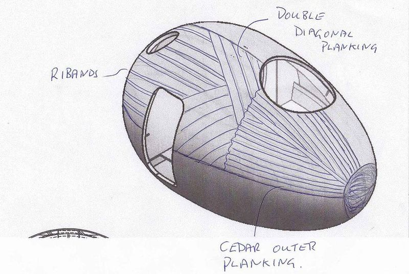 Exbury egg drawing 01