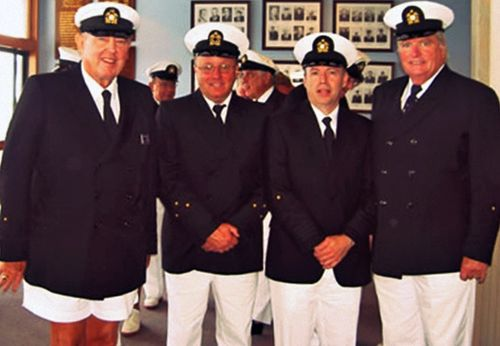 Pretend naval officers