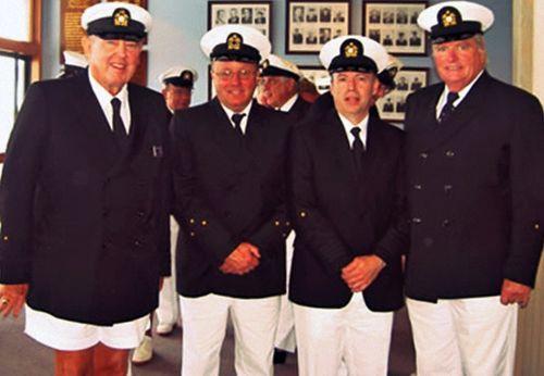 Pretend naval officers