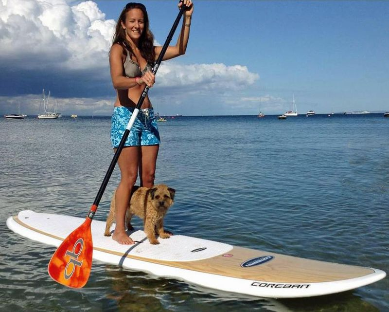 Sup with wahine and her dog