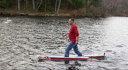 Man walks on water