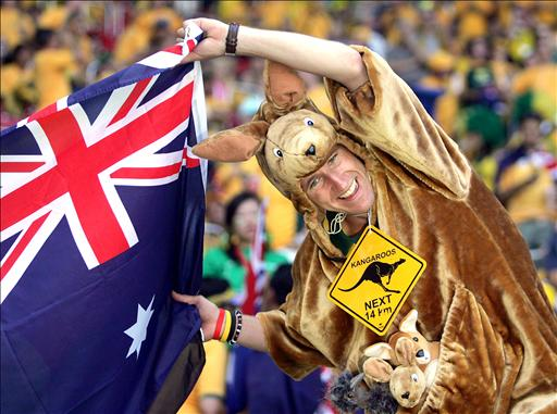 Aussie dresses as a kangaroo.